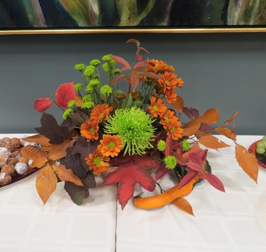 Flower arrangement by Carolyn Dee.
